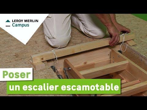 Comment Poser Un Escalier Escamotable Leroy Merlin Youtube
