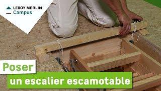 Installer un escalier escamotable gedimat ma maison de a z yourepeat - Montage escalier escamotable ...