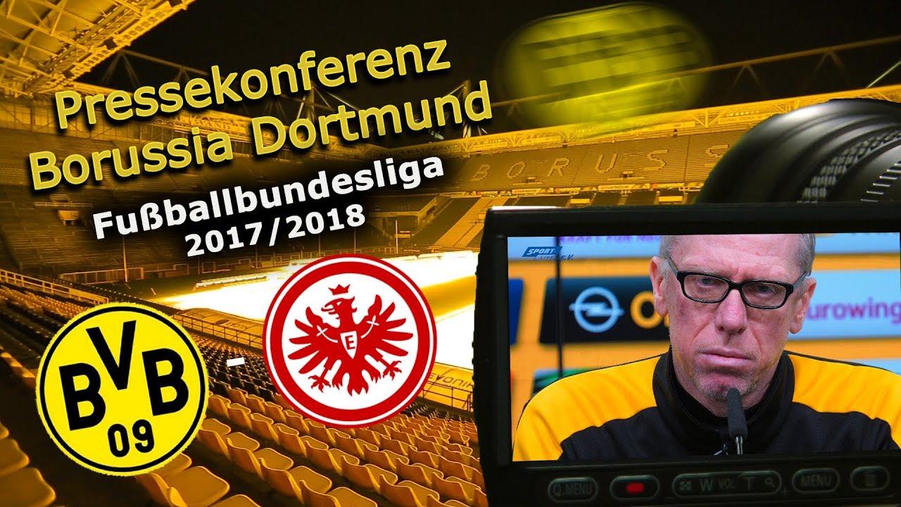 Borussia Dortmund - SG Eintracht Frankfurt: Pk mit Peter Stöger