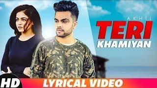 Teri Khamiyaan Lyrical Video || Akhil || Jaani || Kuch to mujh  mein kami thi  || freshHitsMusic