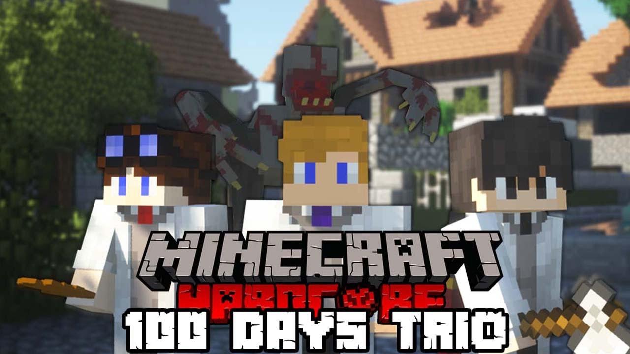 Download We Spent 100 Days in a Parasite Apocalypse in Minecraft | Trio Edition