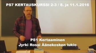 PS7 OSAT 2-3  PSYKOLOGIAN PERUSKÄSITTEET JA OSA-ALUEET (8. ja 11.1.2016)