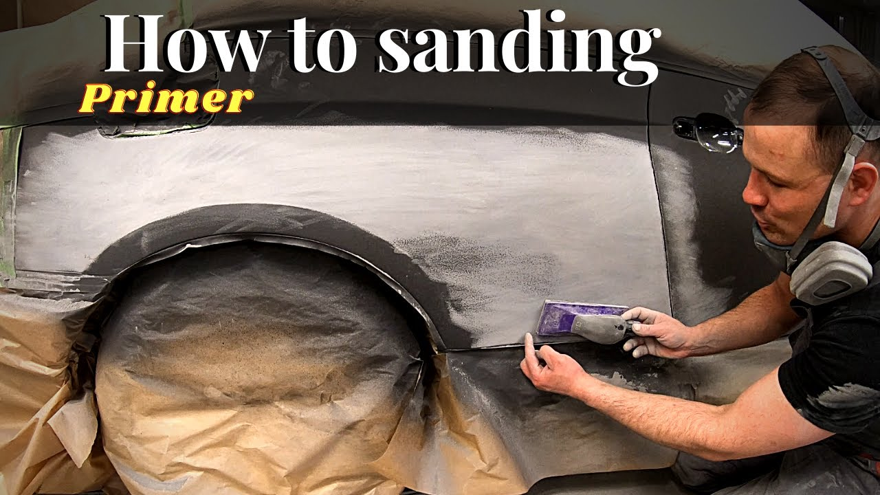Repair   How to sanding body filler for painting   Шлифовка грунта под покраску