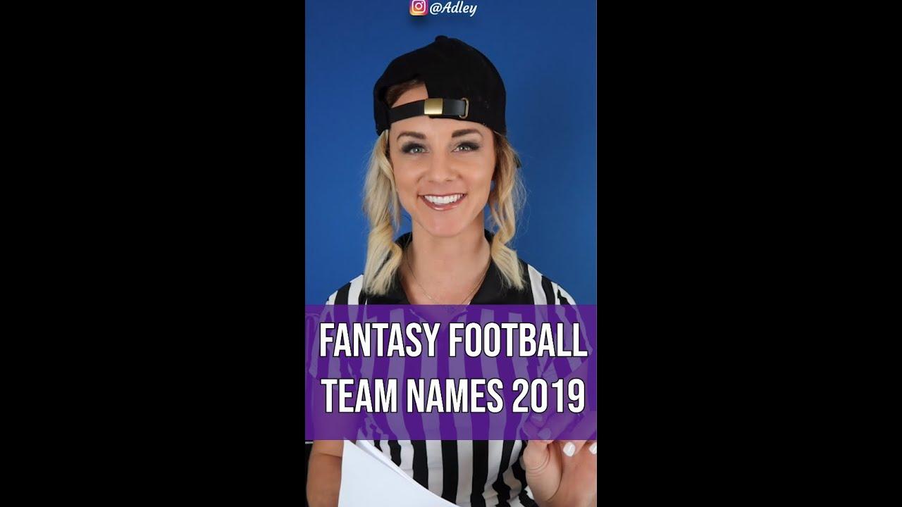 BEST FANTASY FOOTBALL TEAM NAMES 2019