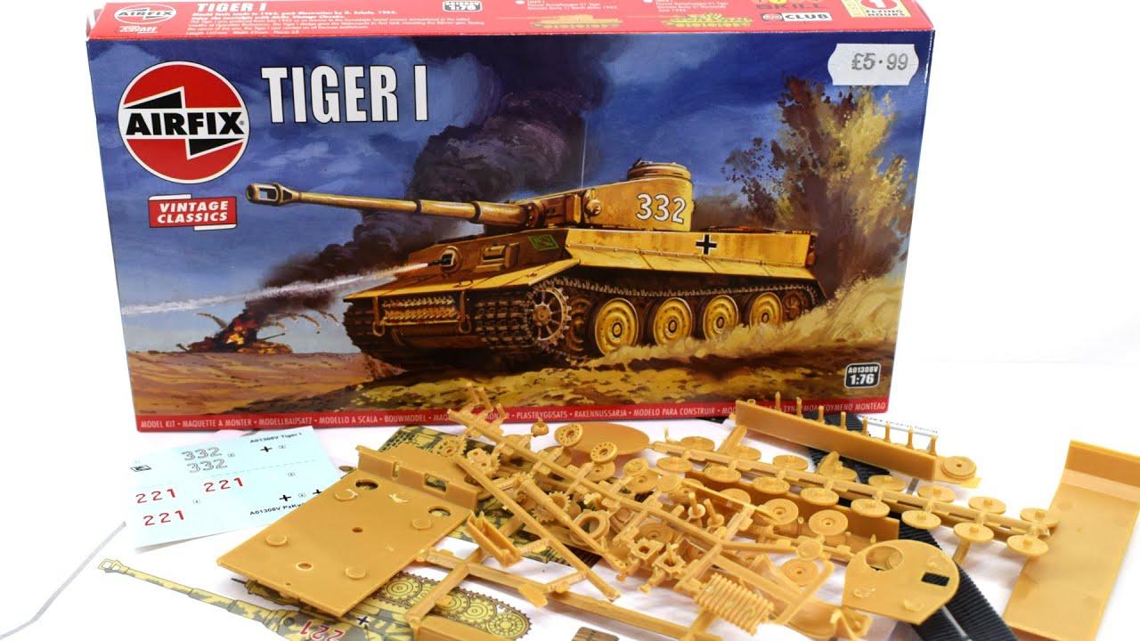 Airfix Tiger 1 Vintage Classics | 1/76 Scale Plastic Model Kit | Unboxing Review