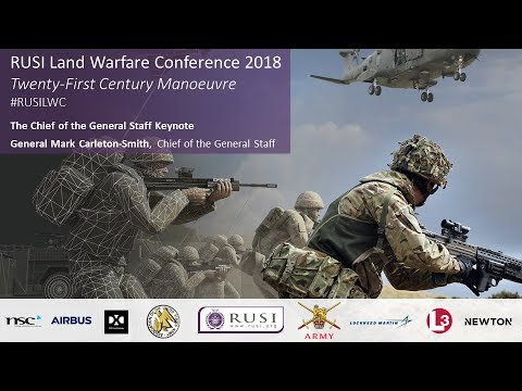 General Mark Carleton-Smith, Chief of the General Staff: RUSI Land Warfare Conference 2018