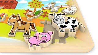 Puzzle dla dzieci ze zwierzętami na wsi | CzyWieszJak