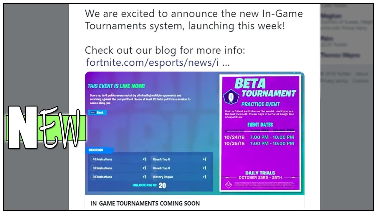 New Fortnite Tournament Feature Explained*