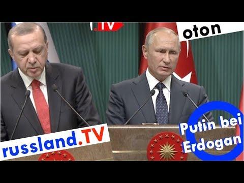 Putins Rede bei Erdogan auf deutsch