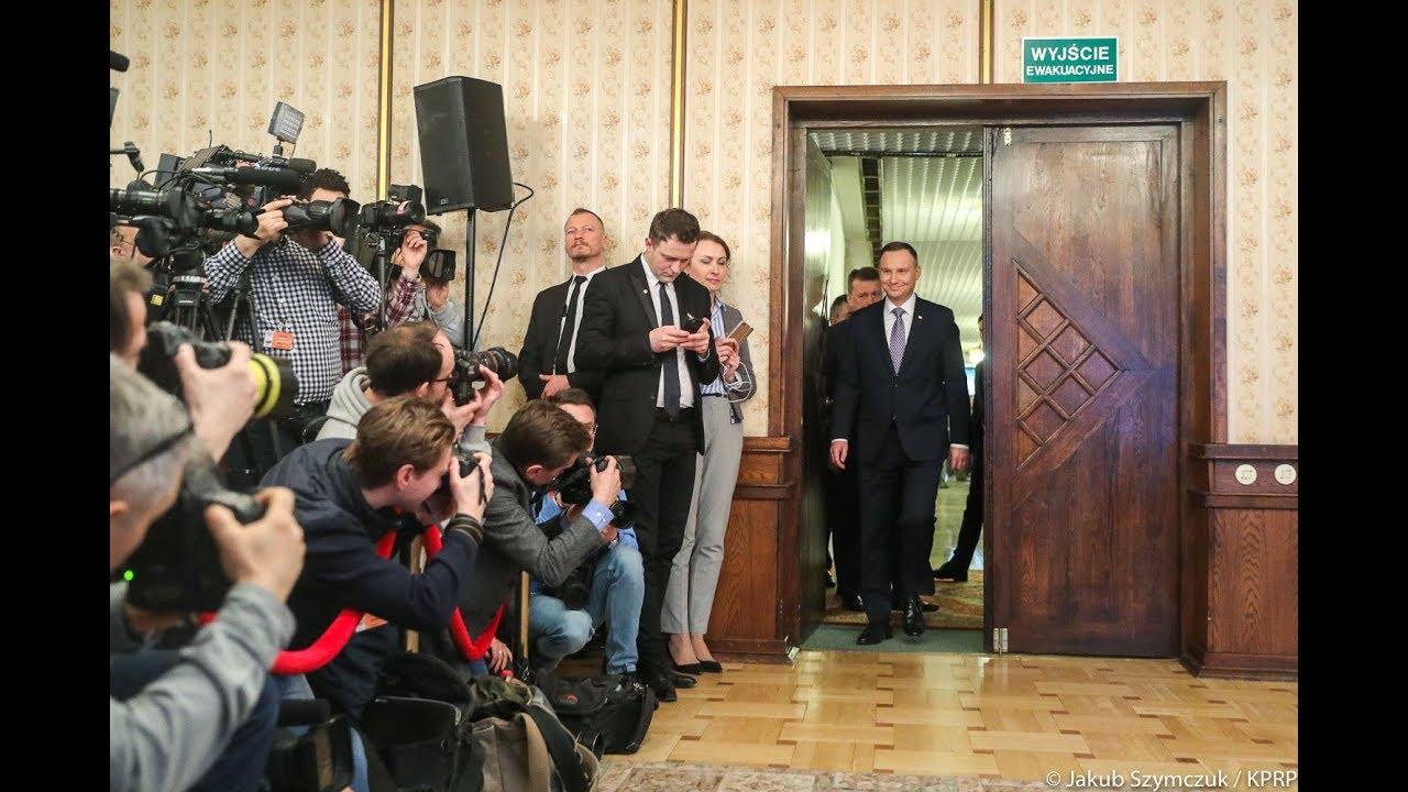 Spotkanie Prezydenta z mediami po odprawie kierownictwa MON i Sił Zbrojnych