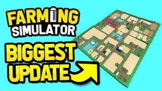 BIGGEST UPDATE EVER in ROBLOX FARMING SIMULATOR