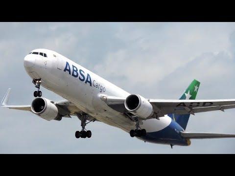 Pouso, Push e Decolagem do Boeing 767 da ABSA CARGO em Recife - #002