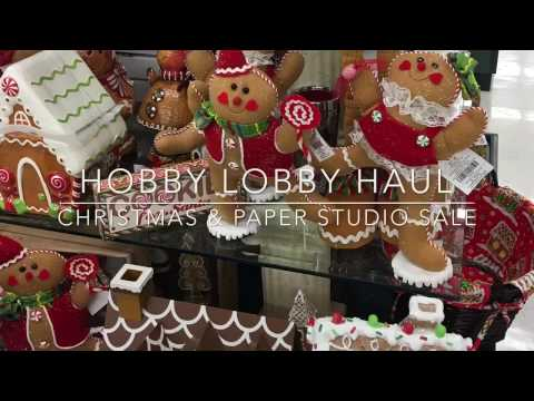 Hobby Lobby Christmas & Paper Studio Haul