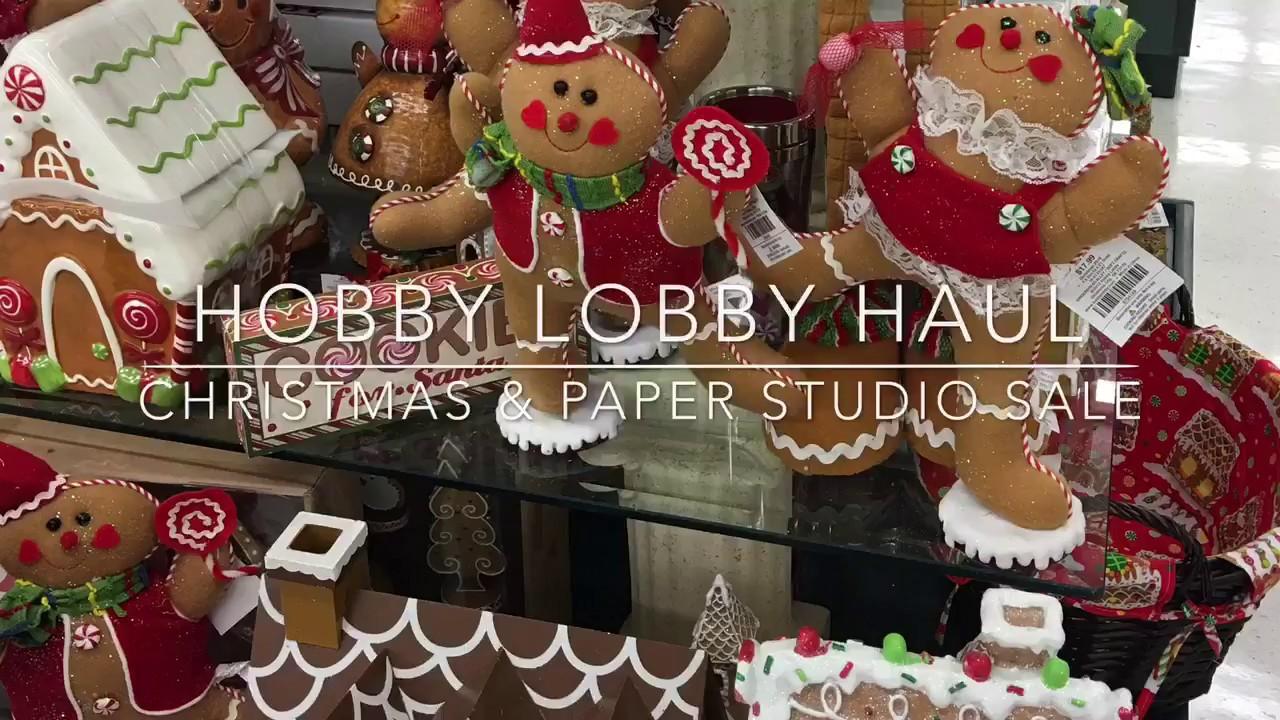 hobby lobby christmas paper studio haul