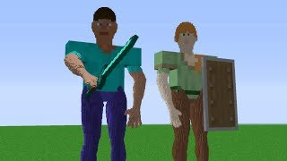 Minecraft | Cursed Images 10 (IRL Steve & IRL Alex)