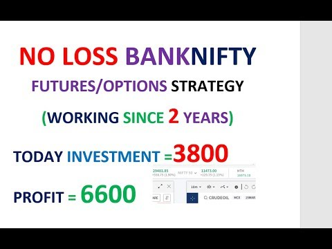 NO LOSS BANK NIFTY STRATEGY FOR FUTURE AND OPTIONS, YOU CAN'T LOSS IN BANKNIFTY