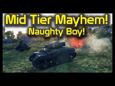► World Of Tanks Ram II, T14, FURY Gameplay: Naughty Medium Tier Action!