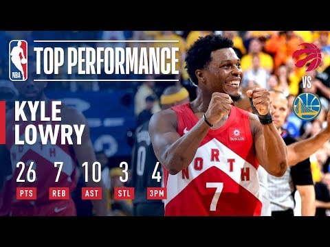 [Highlights] Kyle Lowry comes out blazing hot (26pts/7reb/10 ast - shooting 56% FG) in Game 6, helping the Raptors win their first ever NBA title. Arguably the biggest game of his career.