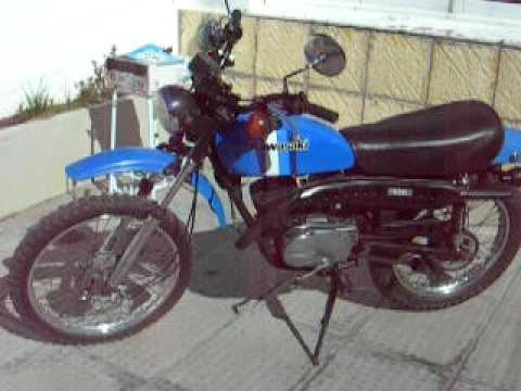 Kawasaki KD 125 2 stroke dirtbike - YouTube