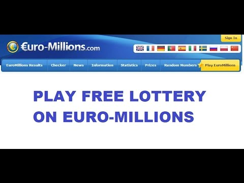 Play Euromillions free lottery and win
