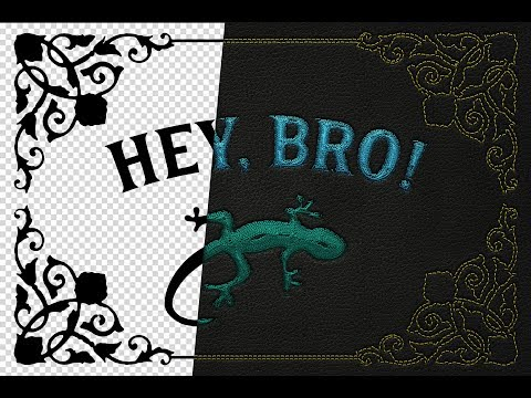 How To Make Machine Embroidery Effect – Photoshop Actions