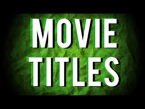 All About Movie Titles
