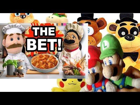 SML Movie: The Bet! Mario And Luigi Reaction (Freddy,Pikachu,BowserJr,Fred,GoldenFreddy)