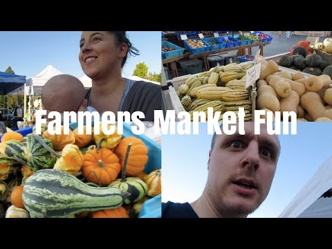 FOLLOW US AROUND! FAMILY FARMERS MARKET FUN | Riley Family Vlogs