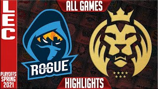 RGE vs MAD Highlights ALL GAMES | LEC Spring 2021 Round 1 | Rogue vs MAD Lions