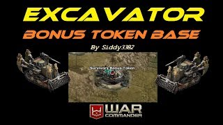 War Commander - Survivor (150) Excavator Bonus Token Base.