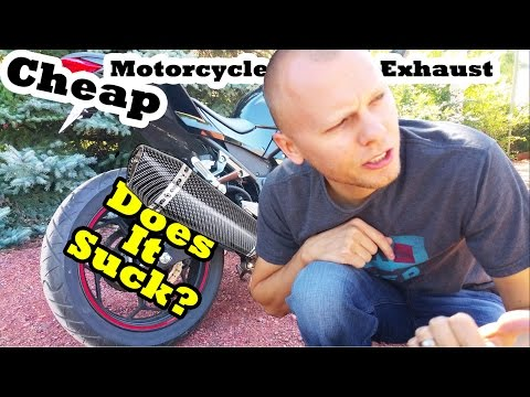 Cheap Motorcycle Exhaust -  Does It Suck?