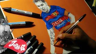 Leo Messi Ballpoint Pen Drawing