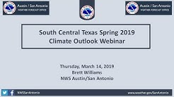 South Central Texas Spring 2019 Climate Outlook