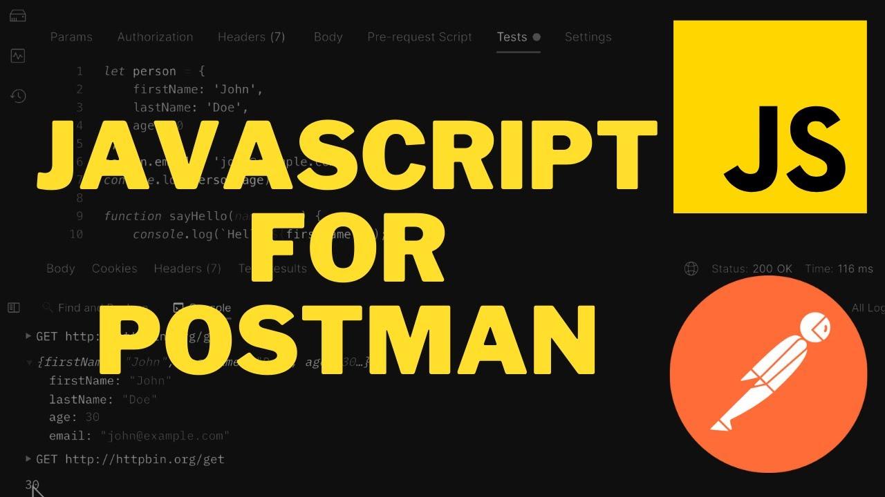 Learn JavaScript for Postman API testing - Full Course for Beginners