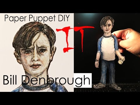 How To Make IT (Bill Denbrough) Georgie's Brother Paper Puppet DIY | New IT MOVIE (2017)