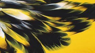 (153) Dip technique _ Yellow & Black _ No silicone oil _ Fluid acrylic  _ Designer Gemma77