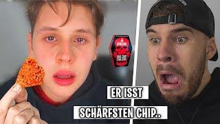 Markey reagiert auf Junge isst SCHÄRFSTEN Chip der Welt! | Reaktion