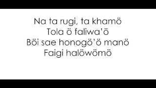FATI ZEBUA - Kureta Satua (Lyrics)