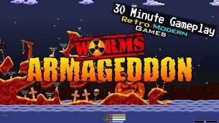 Worms Armageddon - PC / Dreamcast / PSX / N64 - 30 Minute Gameplay