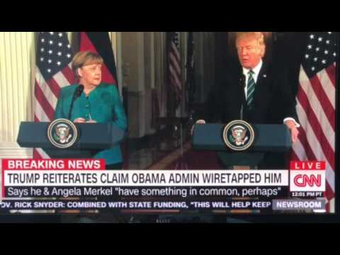 Thumbnail: AWKWARD: Trump to Merkel: We Were Both Spied on By Obama!