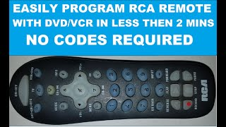 RCA Universal Remote Programming For DVD, VCD or VCR