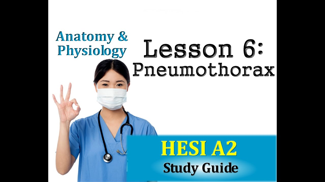 HESI Anatomy and Physiology - Lesson 6 Pneumothorax - YouTube