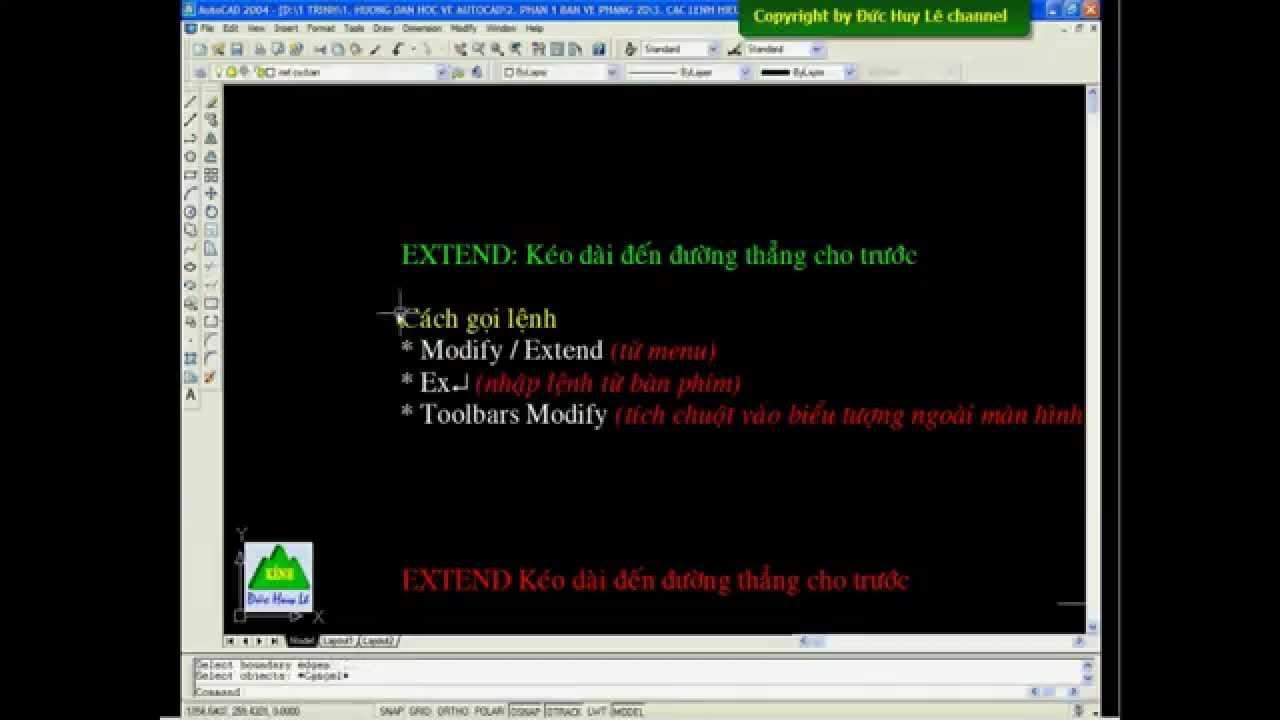 Cách dùng lệnh Extend trong CAD – Kéo dài đối tượng