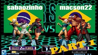 Suparc King of Fighters 2002 | Sabaozinho VS  macson22 | Part I of III