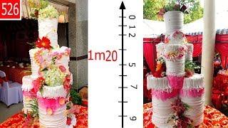 Cake wedding fresh flower colossal - bánh cưới-bánh kem-bánh sinh nhật khổng lồ (526)