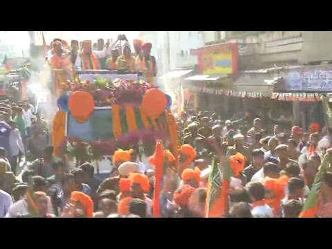 Shri Amit Shah's road show in Ajmer, Rajasthan 5.12.2018