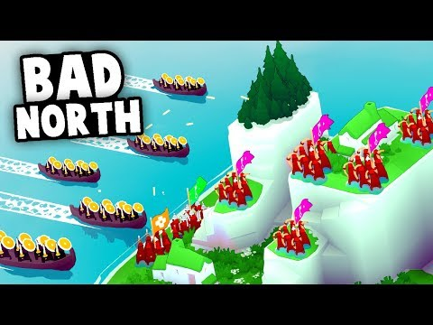 DEFENDING Against VIKING INVASIONS! Building Up Our ARMY! (Bad North Gameplay)