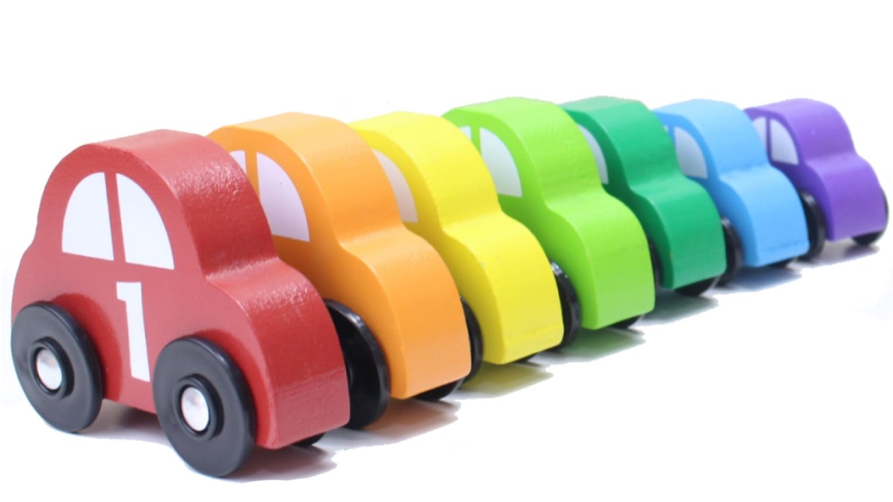Learn Colors With Wooden Car Toys