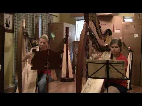Cathryn & Melissa - harp duo (playing Scottish Mus...