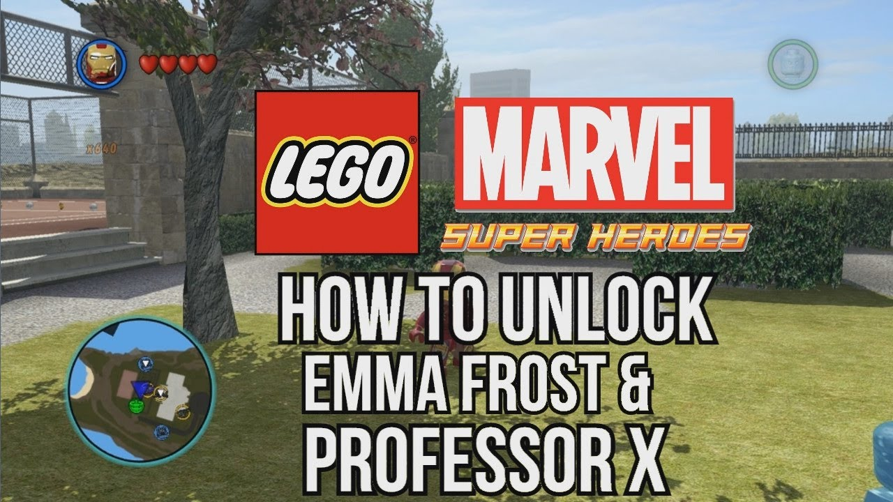 How to Unlock Professor X and Emma Frost - LEGO Marvel ...